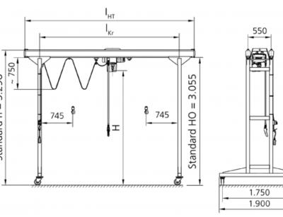 Dvojnosníkový portálový žeriav ZVP-KBK